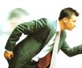 Running business guy